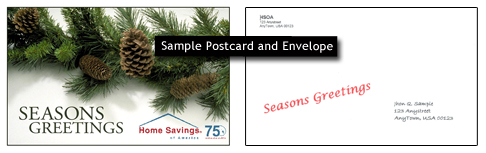 holiday postcard template uv coated postcard zairmail
